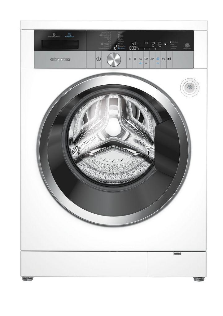 Die Waschmaschine verfügt über viele Optionen.