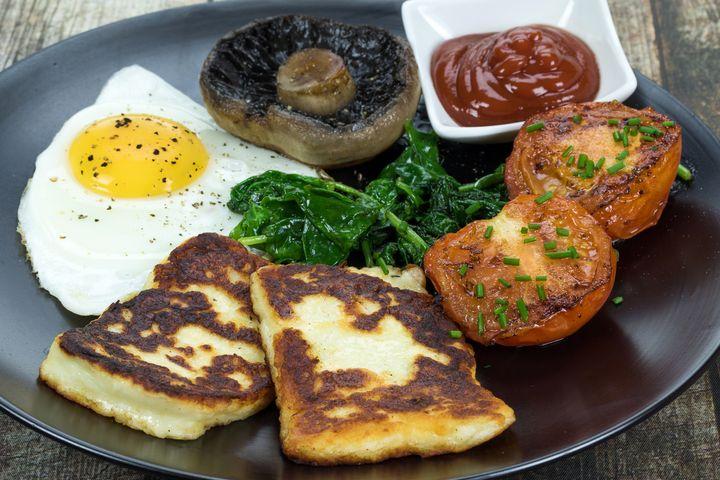 Halloumi zum Frühstück.