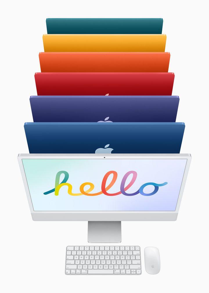 """Die """"iMacs"""" sind in in viele Farben erhältlich."""