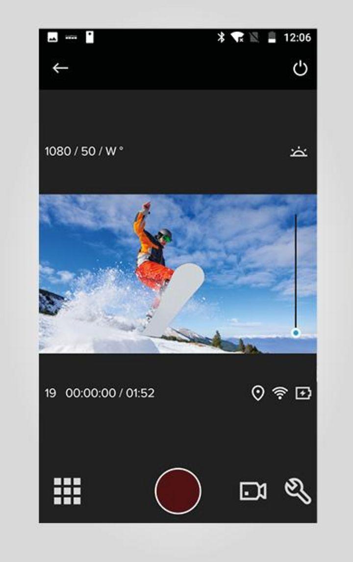 Menüführung der GoPro-App.