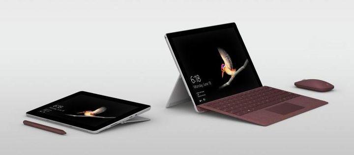 "Microsoft präsentiert seinen Tablet-PC ""Surface Go""."