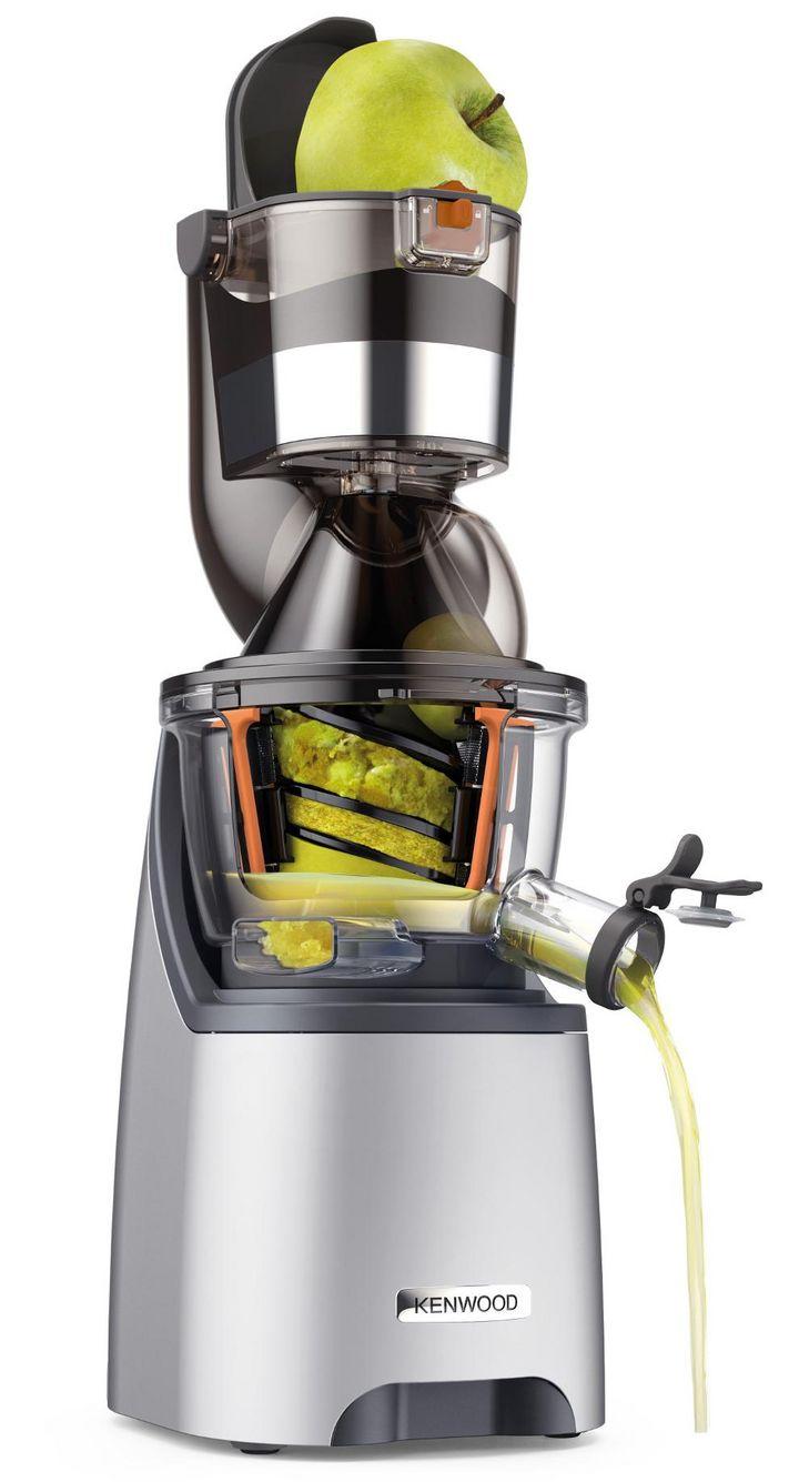 """Der Einfülltrichter """"Dual feed tube"""" erspart das Zerkleinern und Entkernen von Obst und Gemüse."""