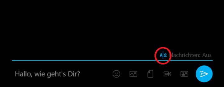 "Hier finden Sie ""Skype Translator""."