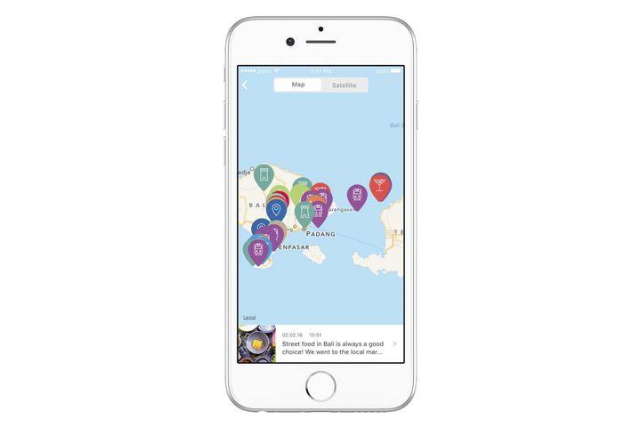 Über eine interaktive Karte wird das Urlaubsland ausgewählt.