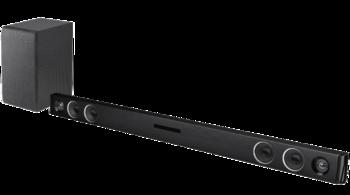 """Die """"SJ3"""" von LG hat einen USB-Anschluss sowie einen kabellosen Subwoofer."""