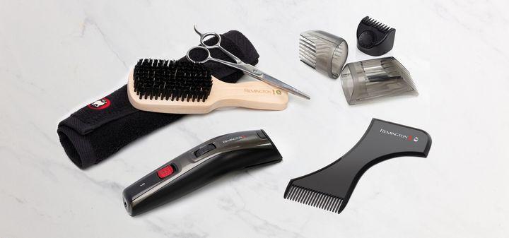 Die EDGEStyler-Bartschablone mit Kamm ermöglicht das präzise Stylen des Barts.