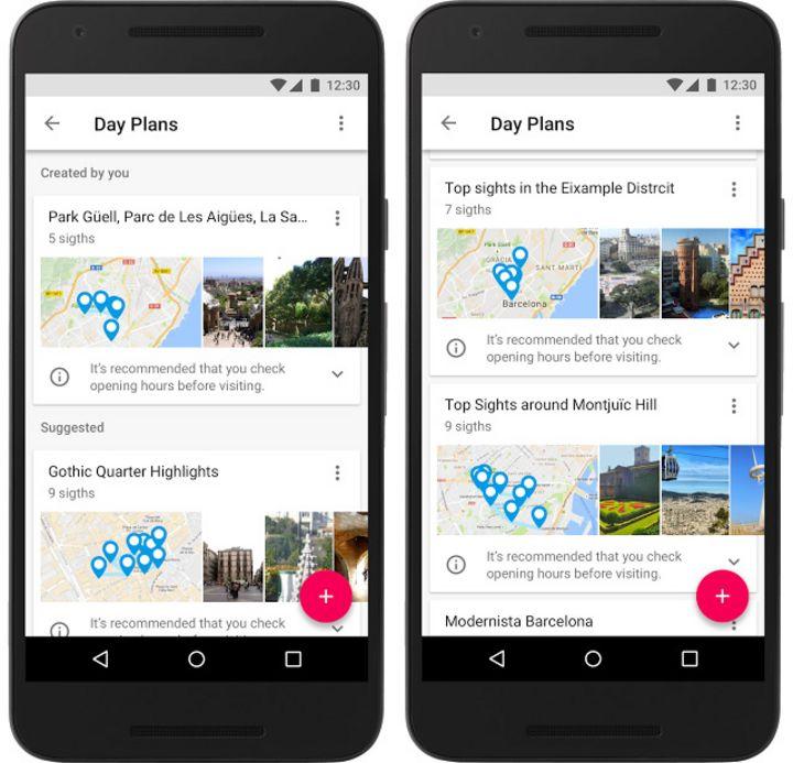 Die Informationen holt sich die App über Google Maps.