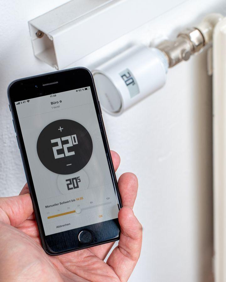 Verbinden Sie das Thermostat mit der App.