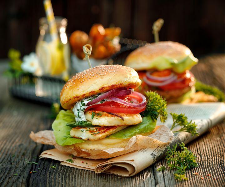 Halloumi-Burger.