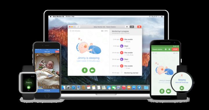 Die App funktioniert dabei als universelles Video- und Audio-Baby-Überwachungstool, das nicht nur mit allen gängigen Handys und Tablets kompatibel ist, sondern auch auf die Apple Watch, Apple TV und Mac OS X funktioniert.