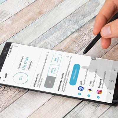 Den Energiesparmodus des Galaxy Note8 anpassen.