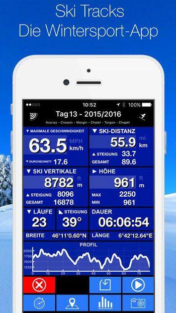 Ski Tracks gibt es für iOS und Android.