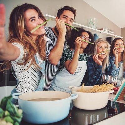 Kochspaß: gesunde und frische Zutaten