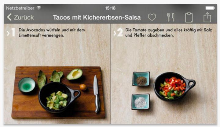 """Screenshot von """"Das Foto-Kochbuch""""."""