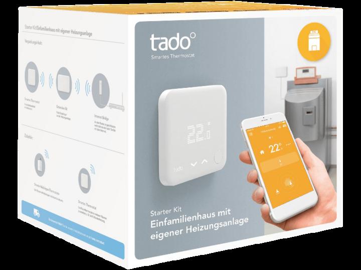 """Das """"tado° Starter-Kit für Einfamilienhäuser"""" arbeitet mit speziellen Algorithmen, um den Energieverbrauch zu optimieren."""