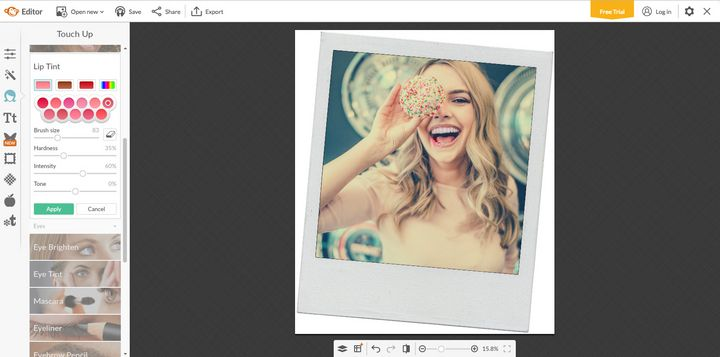 """Schnell zu guten Bildern: """"PicMonkey"""" ermöglicht es, Fotos zu bearbeiten und Porträts zu retuschieren."""