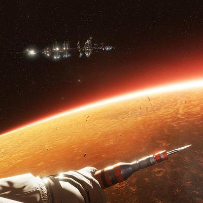 """Szene aus der VR Experience """"Der Marsianer – Rettet Mark Watney"""""""