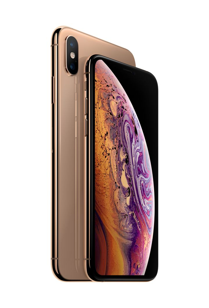 "Das iPhone ""XS Max"" in Gold."