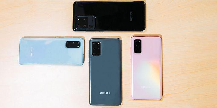 Die neue Samsung S20-Produktfamilie.
