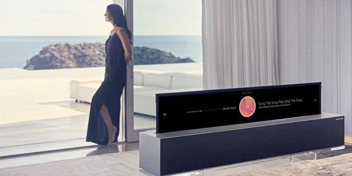 LG zeigte auf der CES 2019 einen ausrollbaren TV.