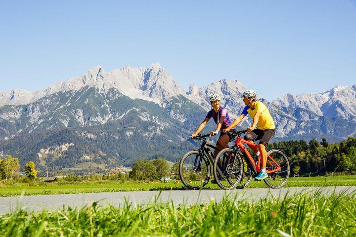 Der Tauernradweg starten im namensgebenden Nationalpark Hohe Tauern im Salzburger Pinzgau.