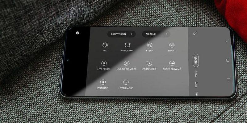 """Der Pro-Modus des Samsung """"Galaxy S20 Ultra""""."""