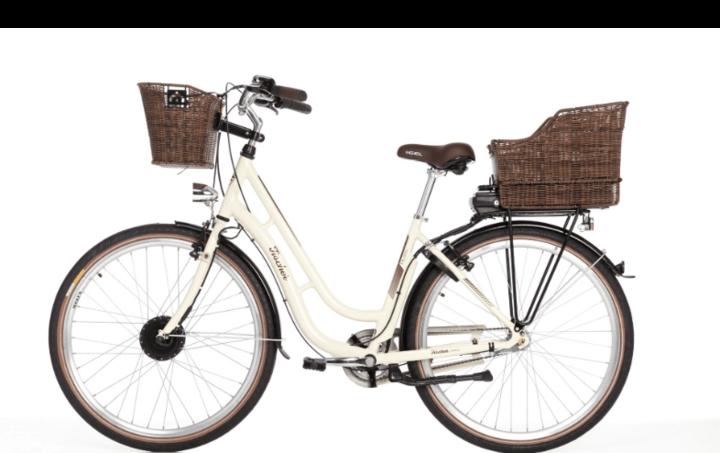 Abgasfrei und trendy gleitet man mit einem Retro-E-Bike durch die Stadt.