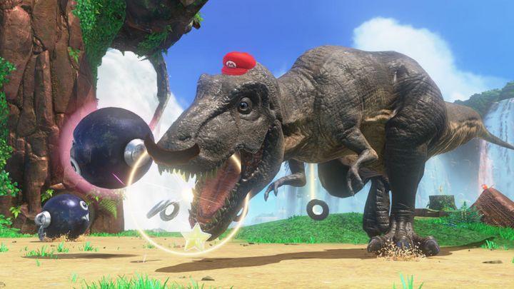Mario kann beinahe alles mit Hilfe von Cappy übernehmen.