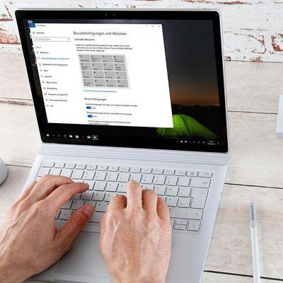 Windows 10: Info-Center personalisieren.