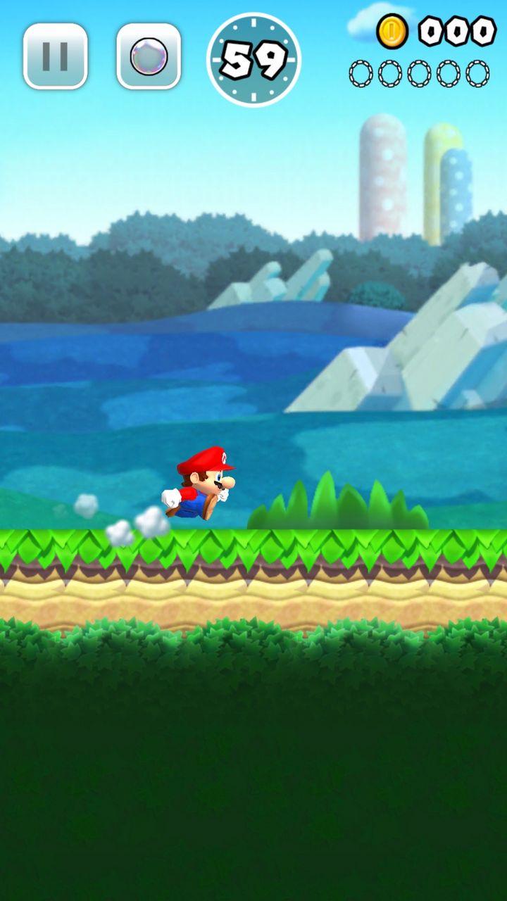 "Ein Screenshot des Mobile-Games ""Super Mario Run"""