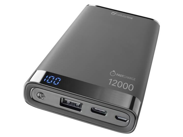 """Mit der """"FreePower Manta S 12000 pro+"""" von Cellularline können zwei Akkus zur selben Zeit geladen werden."""
