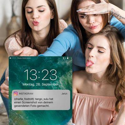 """Mit dem Status """"Screenshot"""" wird in """"Instagram"""" angezeigt, wenn jemand einen Screenshot einer """"Direct Message"""" gemacht hat."""