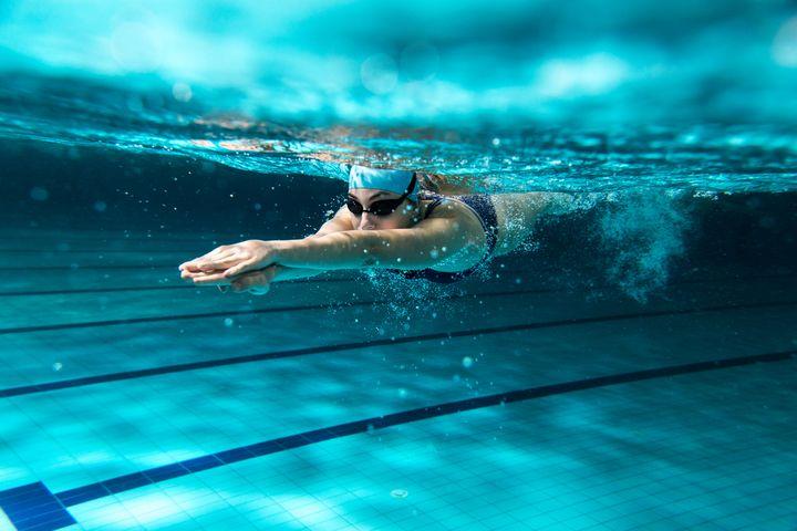 Schwimmen.