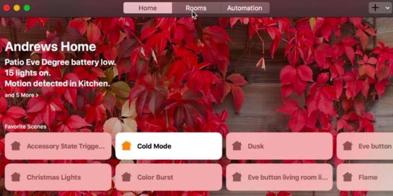 Apple Home-App jetzt auch am Mac.