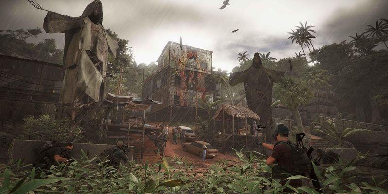 Feindliche Basen im verregneten Dschungel Südamerikas.