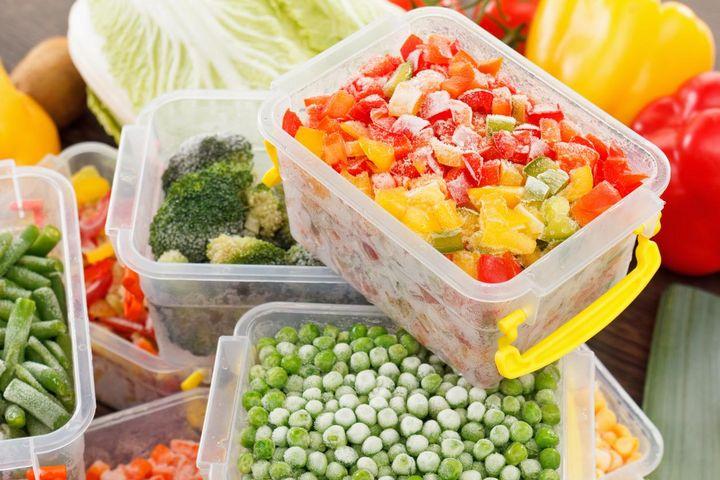 Gemüse und Obst einfrieren.