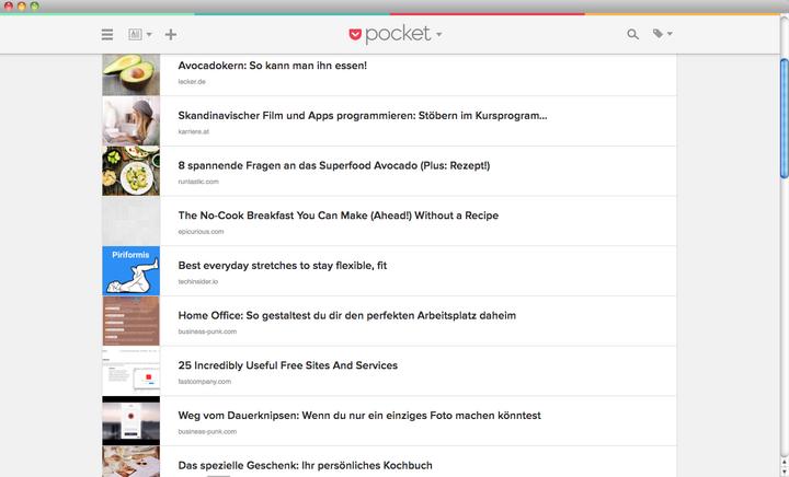 """So sieht """"Pocket"""" in Ihrem Browser-Fenster aus."""