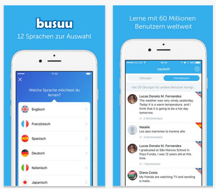 """Lernen Sie elf verschiedene Sprachen mit """"Busuu""""."""