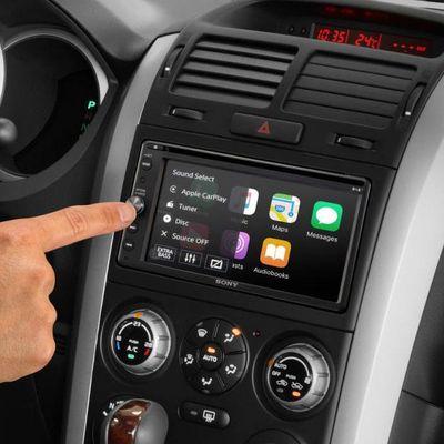 """Der Auto-Receiver """"XAV-AX205DB"""" von Sony besitzt Apple CarPlay, Android Auto und DSO-Sound-Technologie."""